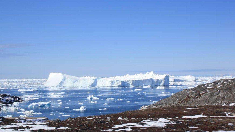 Der Jakobshavn Isbræ Gletscher im Westen von Grönland