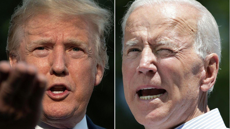Bildkombo: Donald Trump und Joe Biden