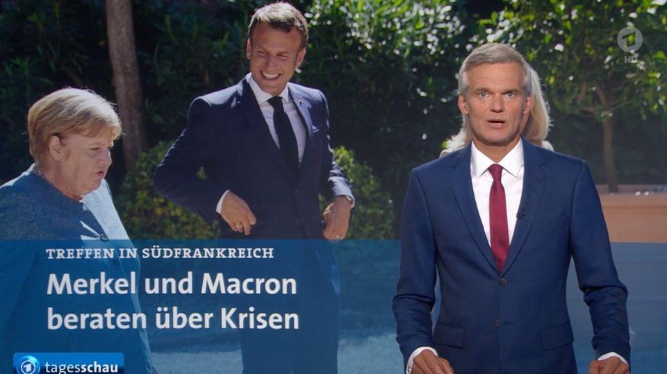 """ARD-Nachrichtensendung: Grafik-Panne in der """"Tagesschau"""": Thorsten Schröder trägt Vokuhila"""