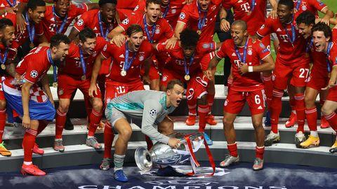 Bayern feiern  Champions League-Sieg