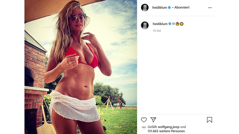 Vip News: Heidi Klum backt halbnackt Pizza