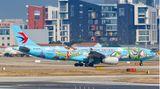 """Ein weiterer Airbus A330-300 der China Eastern Airlines mit dem Kennzeichen B-5976 ziert die Sonderbemalung """"Toy Story"""""""