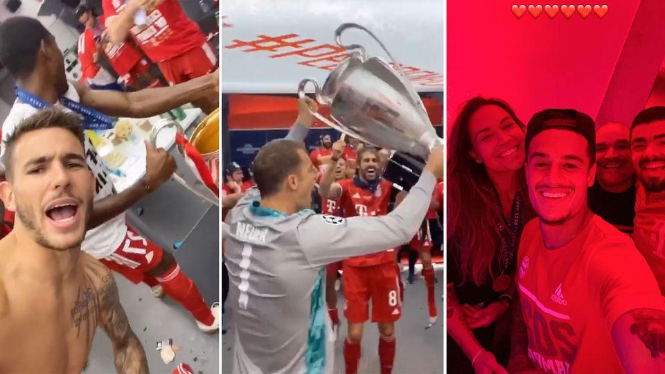 Champions League: Bayern-Stars feiern wilde Party nach Triple-Triumph