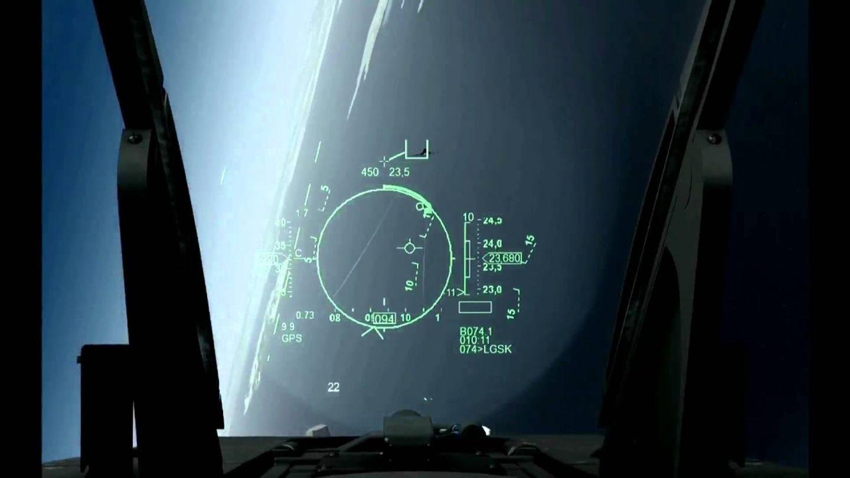 Bild aus einer echten F-16