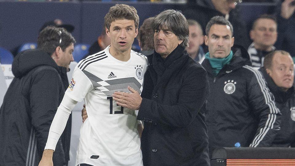 Das wird nicht mehr mit den beiden, oder anders ausgedrückt: Thomas Müller wird nicht in die Nationalelf zurückkehren