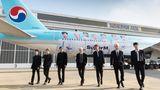 K-Pop-Band SuperM Boeing 777 von Korean Air