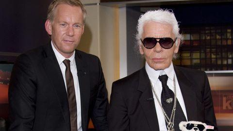 Johannes B. Kerner und Karl Lagerfeld