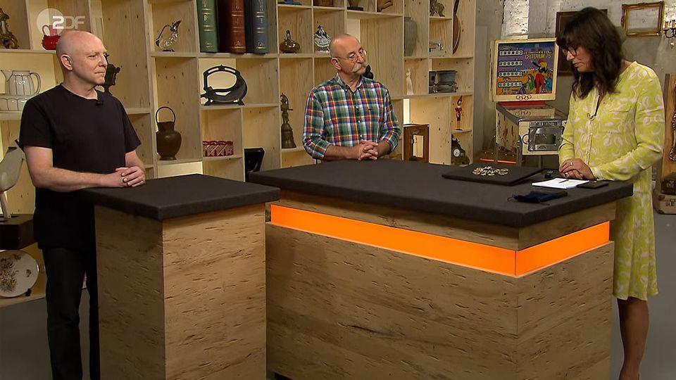 Bares für Rares: Verkäufer, Moderator Horst Lichter, Expertin Heide Rezepa-Zabel