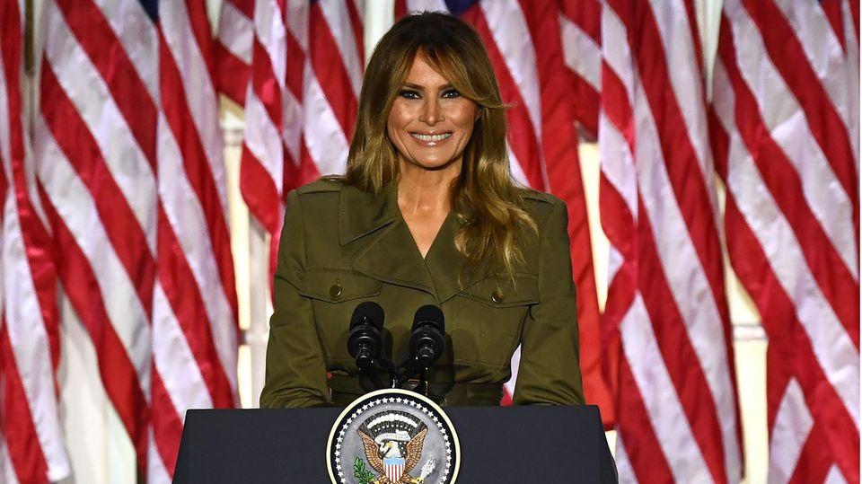 Die First Lady der USA: Melania Trump wirbt für ihren Eheman Donald