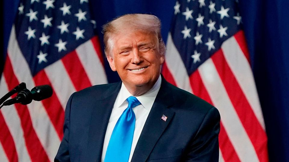 US-Präsident Donald Trump auf dem Parteitag der Republikaner inCharlotte, North Carolina