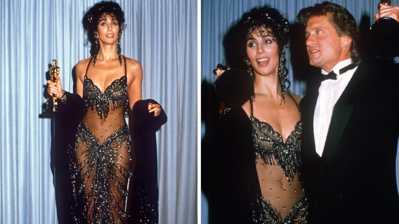 Cher sorgte 1988 bei den Oscars mit ihrem freizügigen Kleid für Aufregung