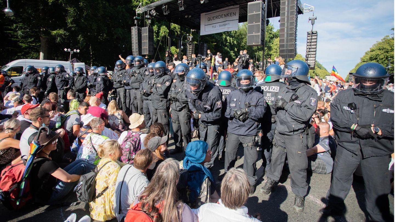 Wie schon am 1. August wollen die Gegner der Corona-Maßnahmen auch kommendes Wochenende wieder in Berlin demonstrieren
