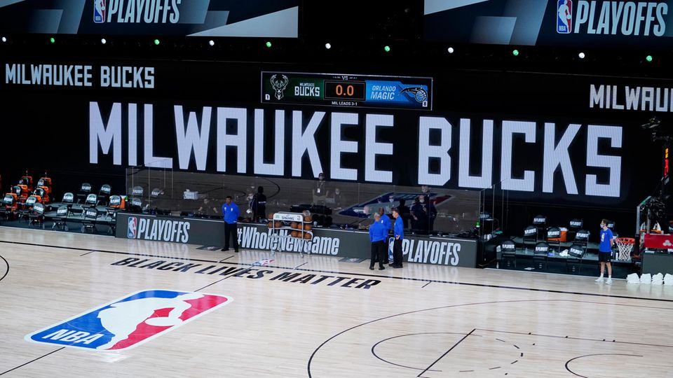 Leere Basketball-Halle der Milwaukee Bucks