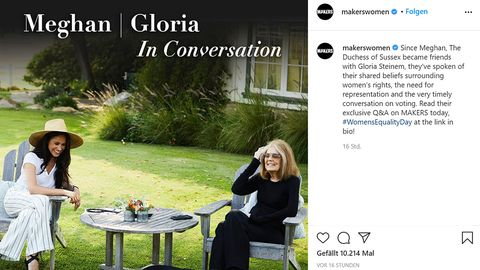 Meghan und Gloria Steinem