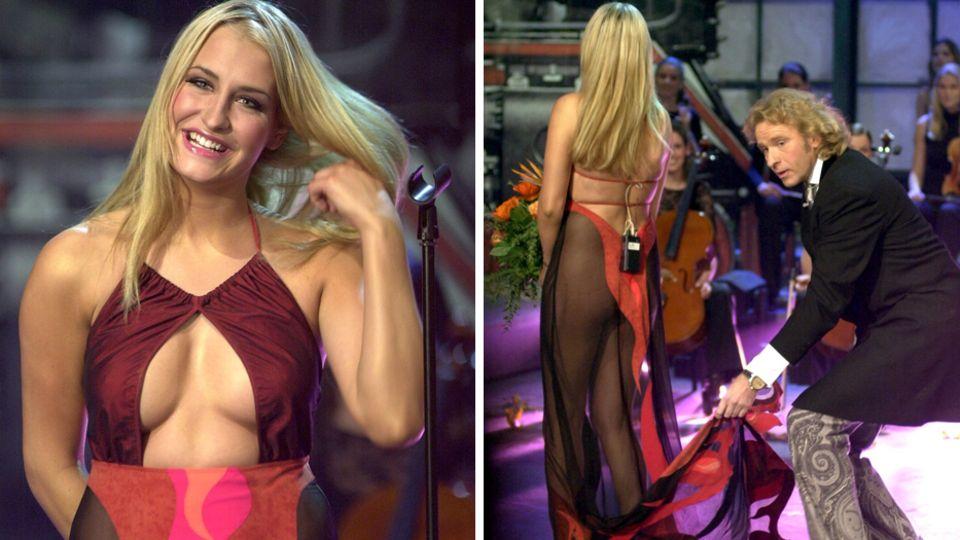 """Sarah Connor sorgte mit ihrem Kleid bei """"Wetten, dass..?"""" für einen unvergesslichen Auftritt"""