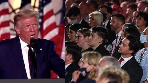 Kein Abstand, keine Masken – mehr als 1000 Zuschauer lauschen Trumps Angriffen auf Biden