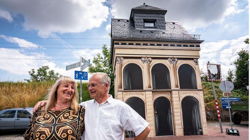 Alte Trafostation als Wohnhaus umgebaut