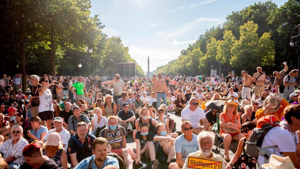 Demonstration gegen die Corona-Maßnahmen am 1. August in Berlin