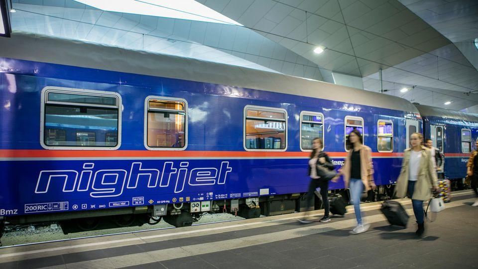 Im Moment Marktführer im Nachtreiseverkehr auf den Schienen: der Nightjet der ÖBB