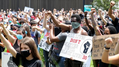 Überall in den USA fanden und finden seit Monaten Anti-Rassismus-Demos statt, auch im Bundesstaat New Jersey