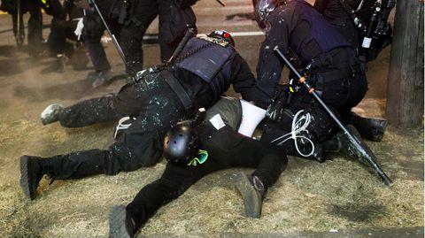 Festnahme bei Protesten in Portland