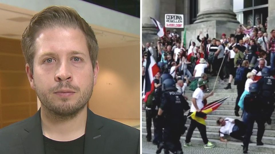 Kevin Kühnert im ntv-Frühstart zu Corona-Demos in Berlin