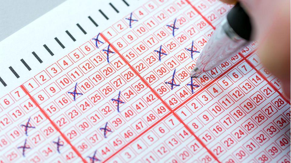 Ein ausgefüllter Lottozettel