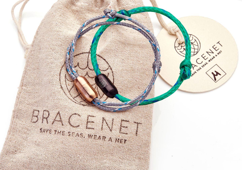 Bracenet aus altem Fischernetz