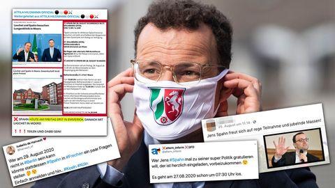 Nach Spuckattacke auf Spahn: Wie Rechte und Corona-Leugner seit Tagen den Gesundheitsminister verfolgen