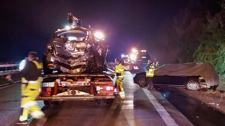 Der Unfallort auf der Autobahn 81