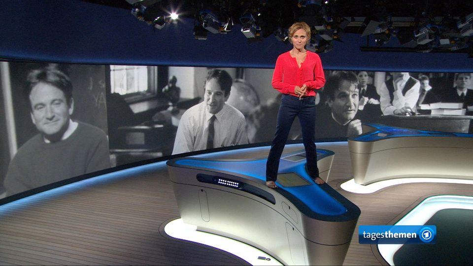 Caren Miosga stieg im TV aufs Pult