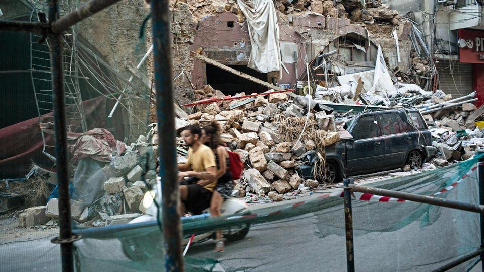 Trümmer in Beirut
