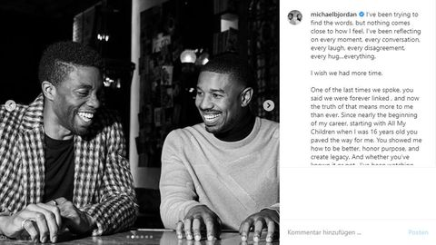 Chadwick Boseman und Michael B. Jordan