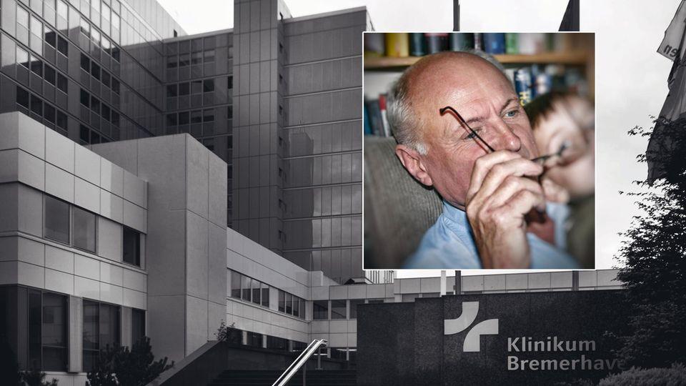 Wolfgang Brunner. Im Hintergrund die Klinik Bremerhaven