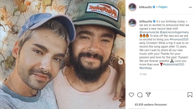 """Vip News: Bill und Tom Kaulitz nahmen """"Durch den Monsun"""" neu auf"""