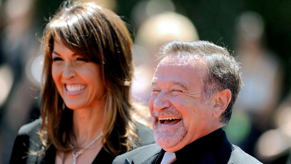 US-Schauspieler Robin Williams undSusan Schneider 2010 in Los Angeles