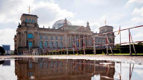 Reichstagsgebäude in Berlin, der Sitz des Deutschen Bundestags