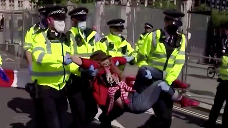 Viele Festnahmen bei Klimaprotest in London