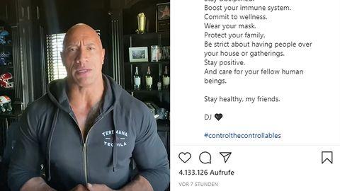"""Dwayne """"The Rock"""" Johnson in seiner Instagram-Botschaft"""