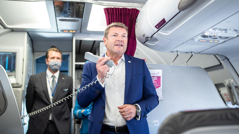 Ansage im Airbus: Anfang März 2020 übernahmJens Bischofden Vorsitz der Geschäftsführung von Eurowings mit Sitz in Köln