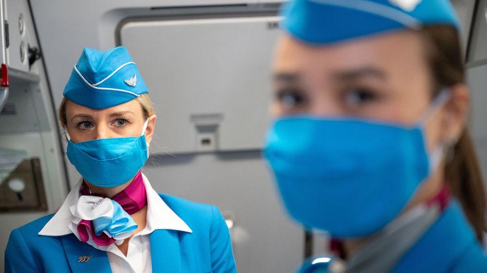 Fliegen an Bord von Eurowings in Zeiten der Pandemie