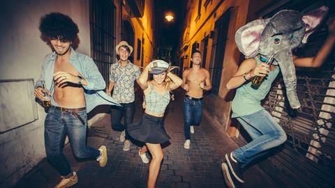 Feiern auf der Straße