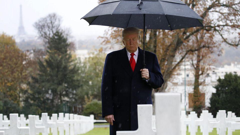 Donald Trump Friedhof Frankreich
