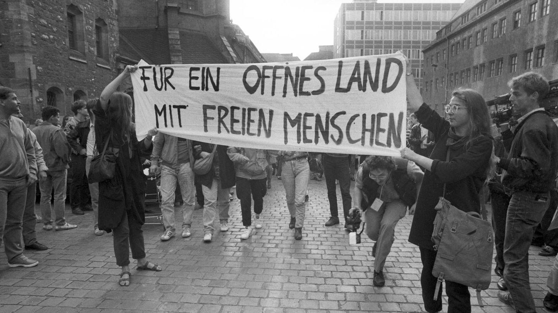 4. September 1989: erste Montagsdemo in Leipzig