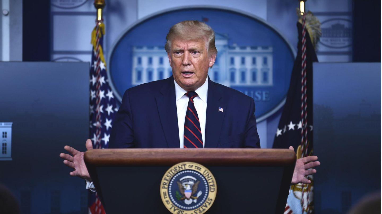 US Präsident Donald Trump auf der Pressekonferenz im Weißen Haus