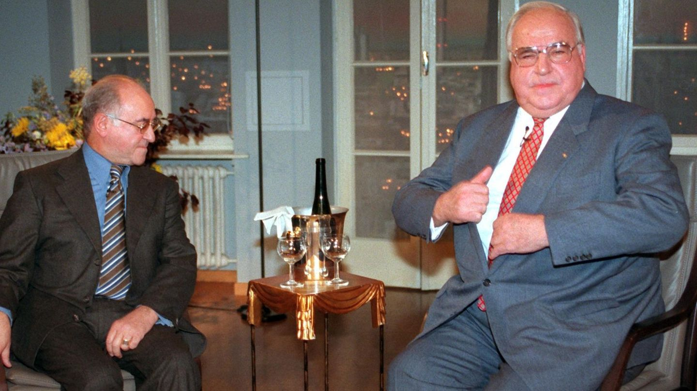 Alfred Biolek und Helmut Kohl