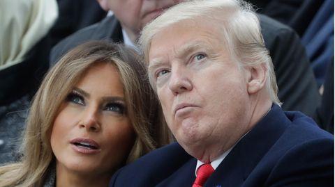 Morgenlage: Melania und Donald Trump bei ihrem Paris-Besuch im Jahr 2018