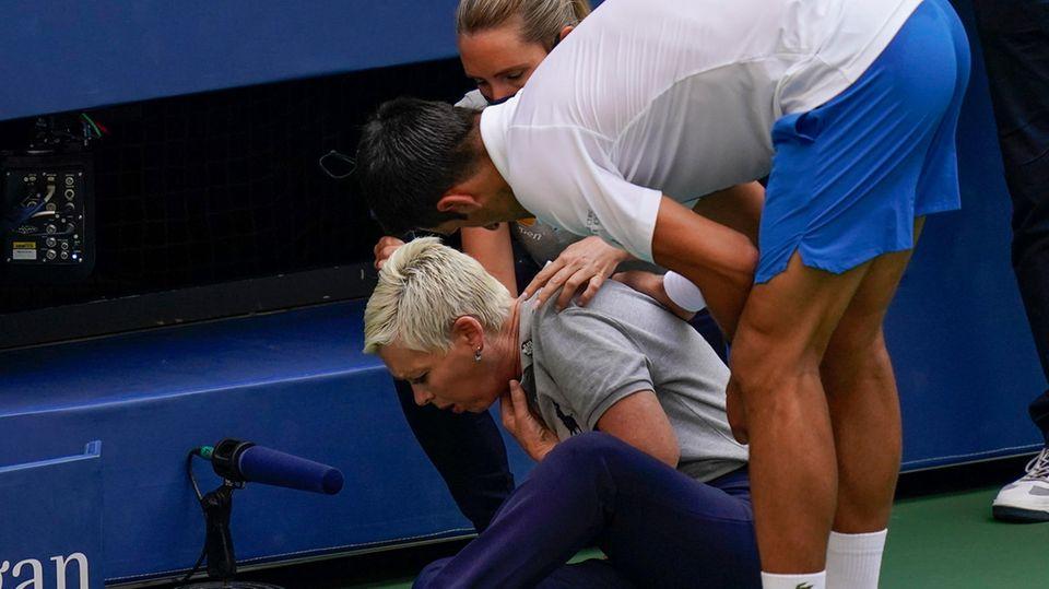 US Open: Novak Djokovic entschuldigt sich bei einer Linienrichterin