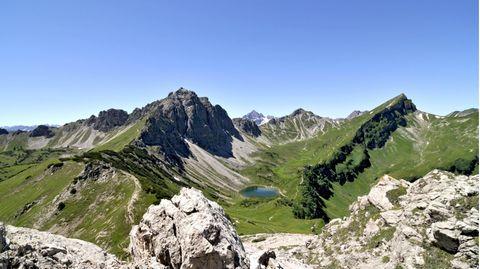 Blick ins Tannheimer Tal Richtung Landsberger Hütte