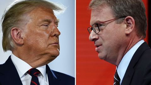 "US-Präsident Donald Trump (l.) und ""The Atlantic""-Chefredakteur Jeffrey Goldberg"